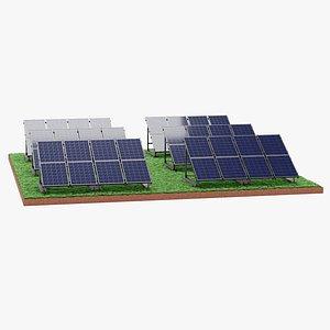 3D Solar Farm 4 model