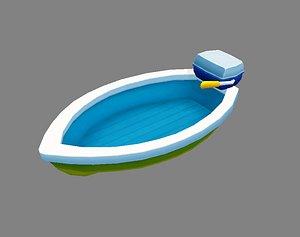Cartoon Toy Ship - Yacht model