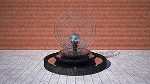 3D Classic Fountain model