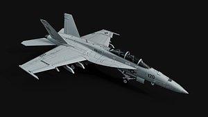 F-18F Super Hornet 3D model