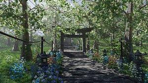 3D Path to Shrine Scene model