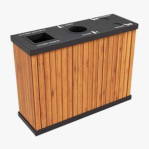 eco recycle bin 3 3D