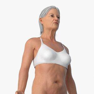 Old Female Body model