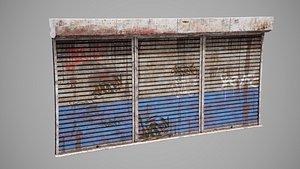 3D shutter metalic model