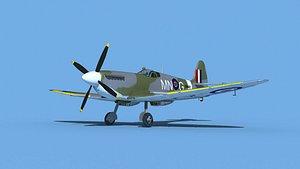 Supermarine Spitfire Mk IXb  V03 3D model