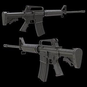 Colt AR-15 Low Poly 3D