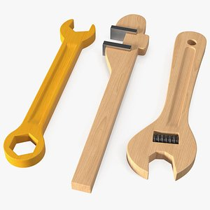 3D Wooden Wrench Toys Set
