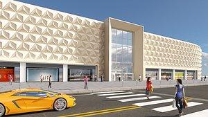 centre 3 interior exterior 3D