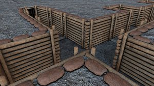 Modular Military Trenches 3D