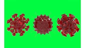 3D model covid virus imagination rendering