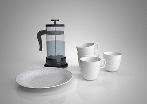 3D Kettle tea cup tea table electric kettle heat preservation pot hot kettle electric kettle