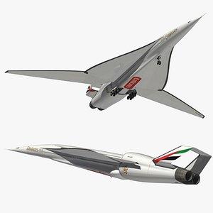 ssa emirates airliner 3D model