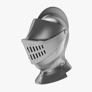 3D helmet medieval knight model
