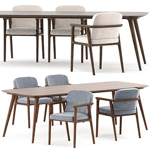 3D Zio Dining Table and Zio Dining Chair model