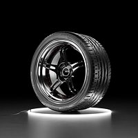 Car wheel Bridgestone Potenza S001 tire with SSR PROFESSOR SPX rim