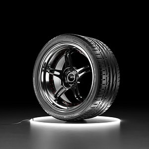 Car wheel Bridgestone Potenza S001 tire with SSR PROFESSOR SPX rim 3D model