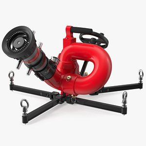 Rosenbauer Power Stream Portable Firefighting Monitor 3D model