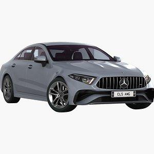 3D model Mercedes-Benz CLS AMG 2022 Low Interior