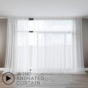 3D tulle wind animation