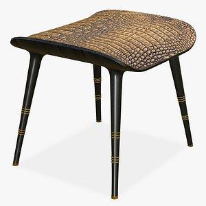 3D Chair Crocodile Ottoman