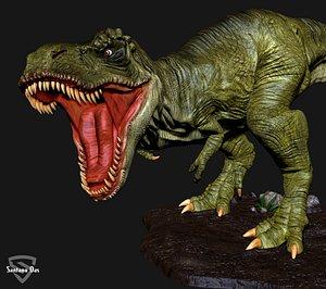 dinosaur tyrannosaurus t-pose 3D