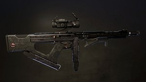 Tactical Thompson SMG 3D model