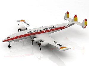 3D Lockheed Constellation Airplane model