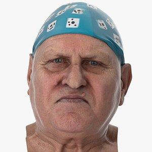 3D model Homer Human Head Jaw Thrust AU29 Clean Scan
