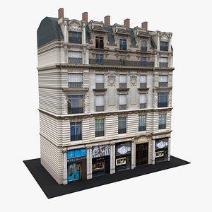 3D Typical Parisian Apartment Building 14