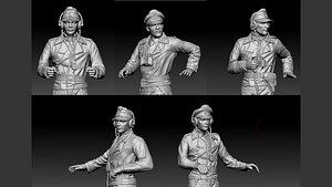 3D german officers