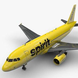 AirbusA319-100SPIRIT AirlinesL1471 3D model