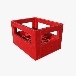 Bottle box red 3D model
