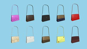 Female Bag Collection - Character Fashion Design 3D model