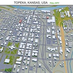 3D model Topeka Kansas USA