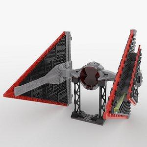 3D lego sith tie