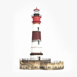 realistic lighthouse modern 3D model