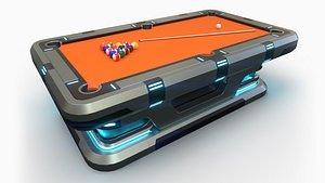 3D scifi pool table model