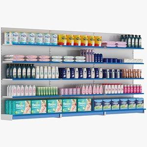 Supermarket Shelves Set 02 model