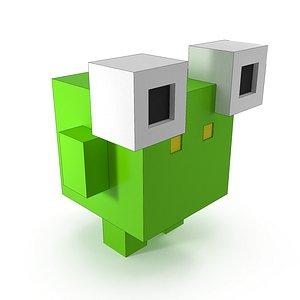 3D voxel toad model