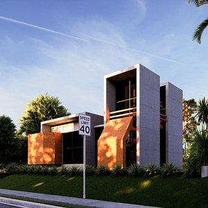 3D modern building 19