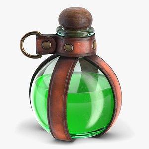 3D model Potion Bottle Holder With Liquid