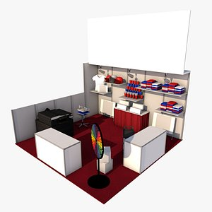 3D exhibition expo booth model