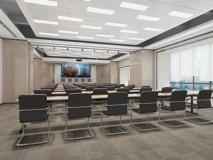 3D model Meeting room, big conference, lecture hall, lecture hall, multimedia conference room, multimedia lec