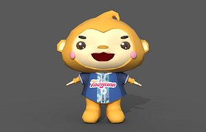 3D model Monkey Toy Rigged