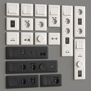 3D model switch socket schneider