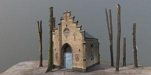 3D model building graveyard