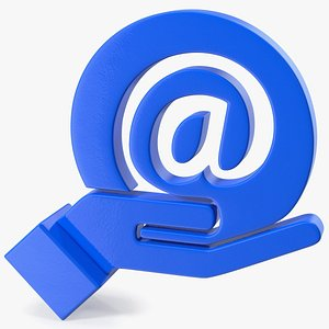 email hand icon mail model