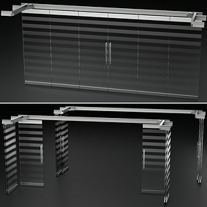 Glass Sliding Partition Wall model