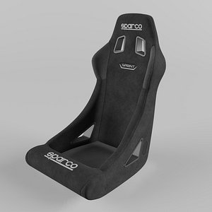 3D Sparco SPRINT  Sports Racing Seat Suede Black model