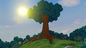 3D anime tree